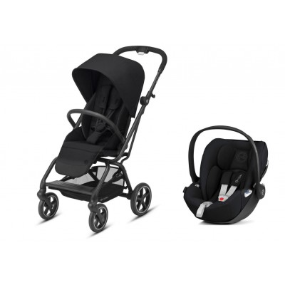 Poussette Duo Cybex Eezy S twist+ 2 Deep Black 2020 et Cloud Z noir