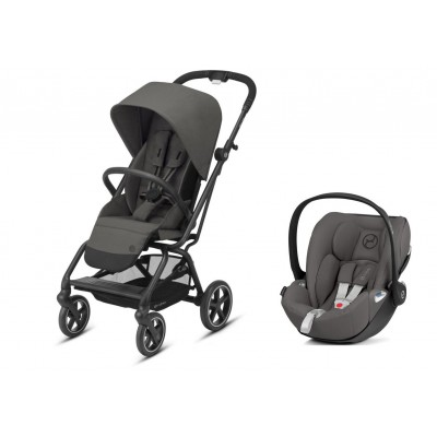 Poussette Duo Cybex Eezy S twist+ 2 Soho Grey 2020 et Cloud Z gris