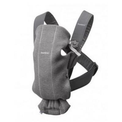 Porte-bébé Babybjorn Mini Baby Carrier dark grey 3D Jersey