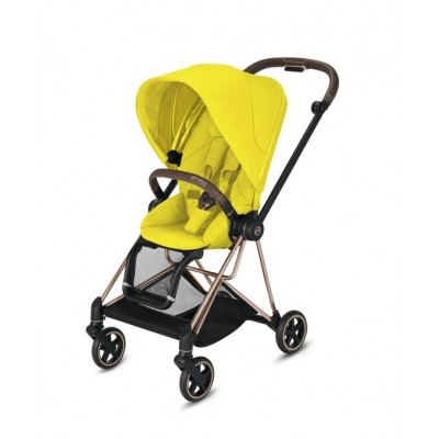 Poussette Cybex Mios 2020 Mustard Yellow Châssis Rosegold